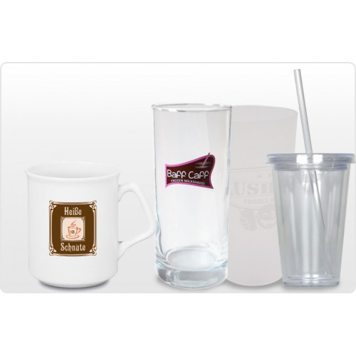 Returnable Cups, Glasses, Iso-Cups and Mugs