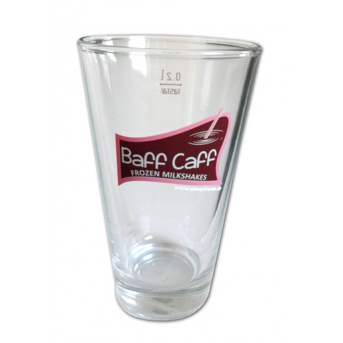 "Glasses 200 ml, brand ""Leonardo"", with Baff Caff-Logo, set with 6 glasses"