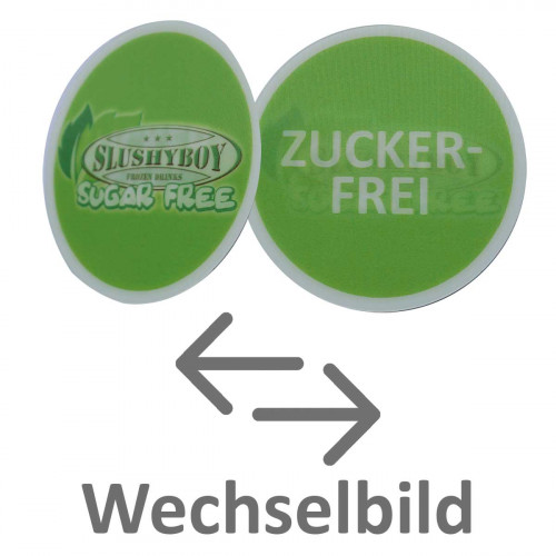 Sticker SUGAR FREE (German), Waterproof,...