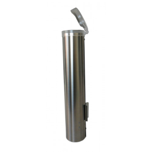 Cup dispenser, smalll, stainless steel