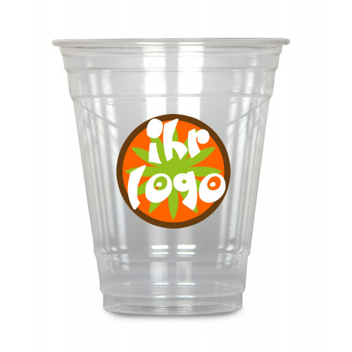 Clear Cup 300 ml, crystal clear, with your logo, 50 pieces per stack