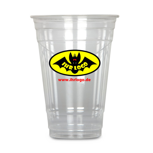 Clear Cup 400 ml, crystal clear, with your logo,...