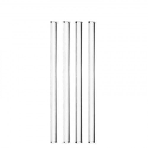 Glas Straws 50 pcs. made of extra durable glas made by Schott®; reusable - dishwasher save