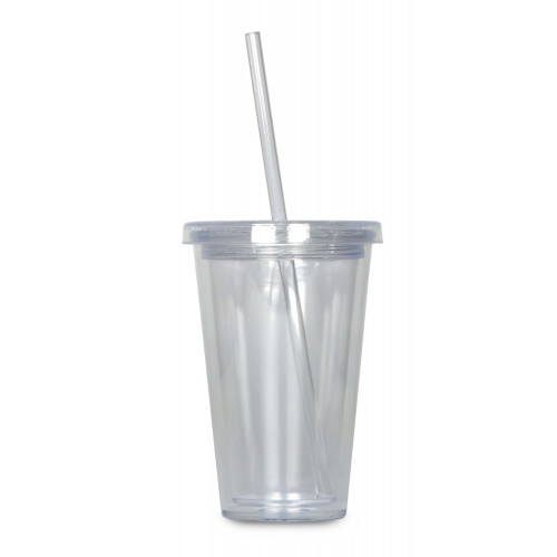 Double-wall drinking cup 250 ml, clear, neutral