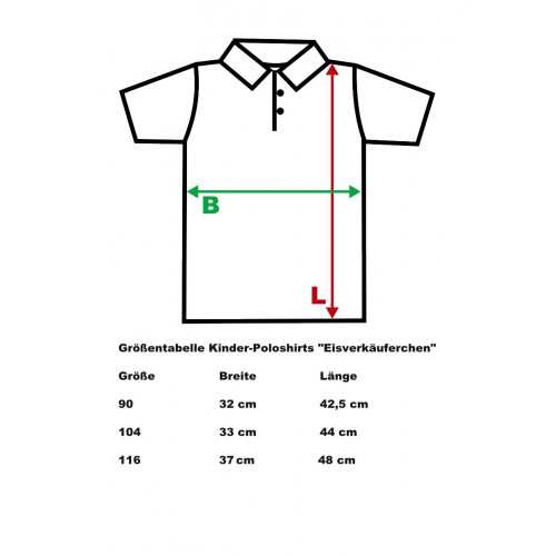 Kid`s Polo Shirt, Size 90