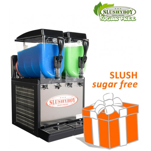 Slusher Classic 2 x 8 litres black, incl. SUGAR...