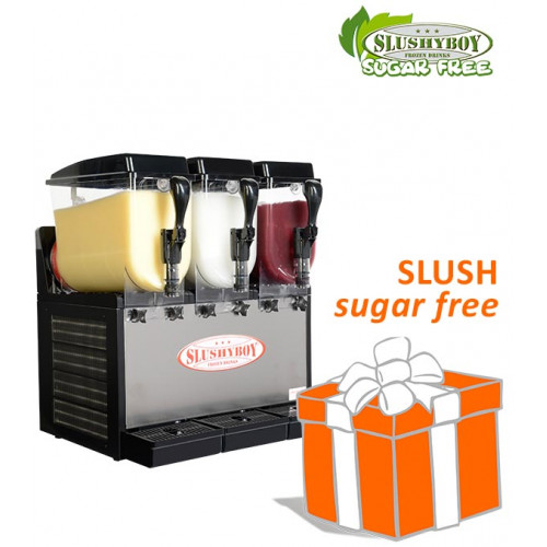 Slusher Classic 3 x 8 litres black, incl. SUGAR...