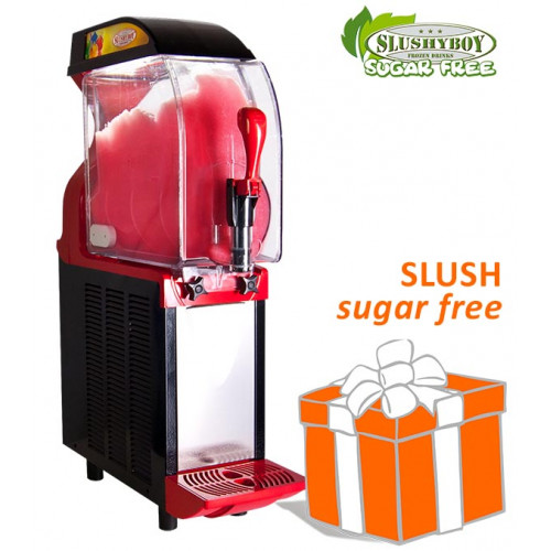 SLUSHER ECO 1 x 11 litres red/black, incl. SUGAR...