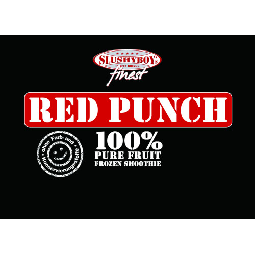 Sortenschild SLUSHYBOY`s finest Red Punch